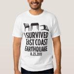 I Survived East Coast Earthquake T Shirts