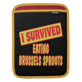I SURVIVED EATING BRUSSELS SPROUTS iPad SLEEVES