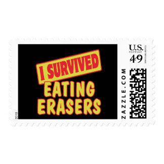 I SURVIVED EATING ERASERS STAMP