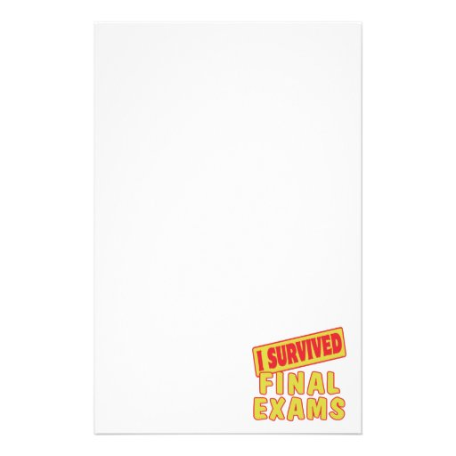 I SURVIVED FINAL EXAMS CUSTOMIZED STATIONERY