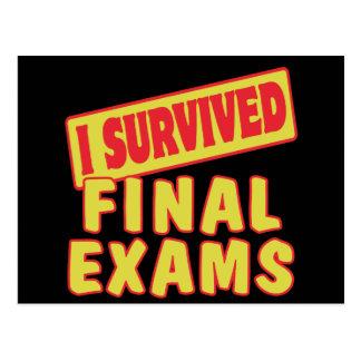 I SURVIVED FINAL EXAMS POSTCARD