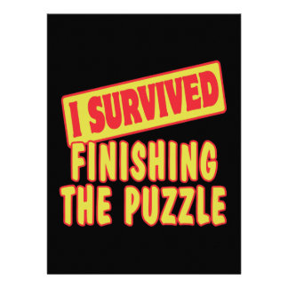 I SURVIVED FINISHING THE PUZZLE CUSTOM ANNOUNCEMENTS
