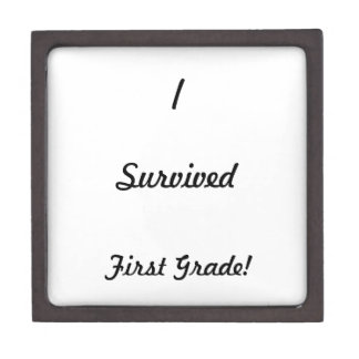 I survived First Grade! Keepsake Box