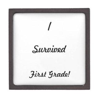 I survived First Grade! Keepsake Box
