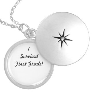 I survived First Grade! Silver Plated Necklace