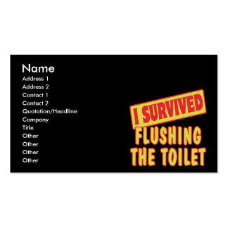 I SURVIVED FLUSHING THE TOILET BUSINESS CARD