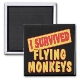 I SURVIVED FLYING MONKEYS MAGNET
