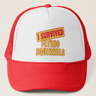 I SURVIVED FLYING SQUIRRELS TRUCKER HAT