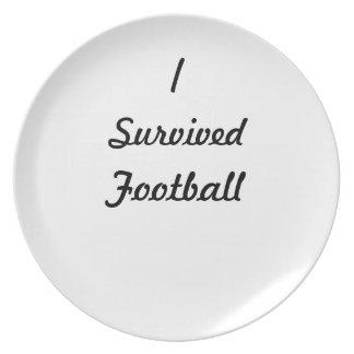 I survived Football Plates