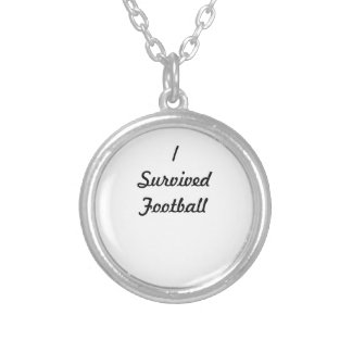 I survived Football Round Pendant Necklace