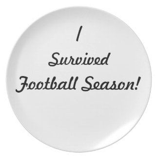 I survived football season! dinner plate