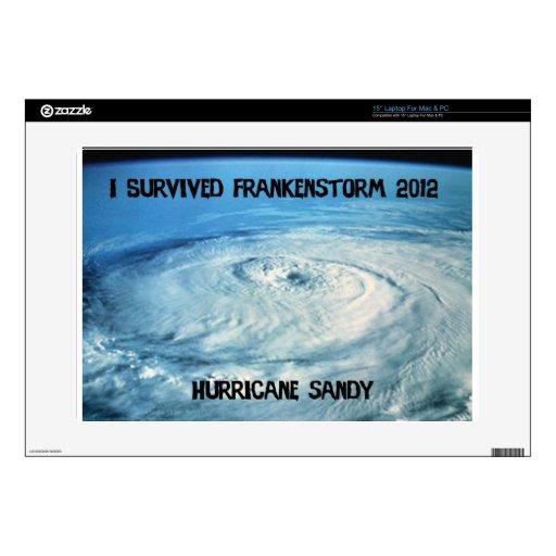 """I Survived Frankenstorm 2012! 15"""" Laptop Decal"""