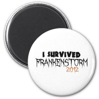 I Survived Frankenstorm 2012 2 Inch Round Magnet