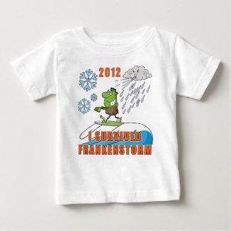 I Survived Frankenstorm 2012 Baby T-Shirt