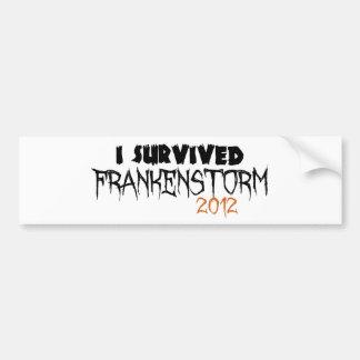 I Survived Frankenstorm 2012 Bumper Sticker