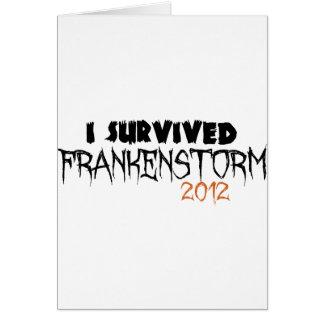 I Survived Frankenstorm 2012 Card