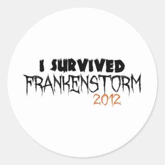 I Survived Frankenstorm 2012 Classic Round Sticker