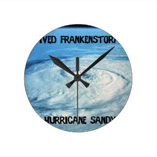 I Survived Frankenstorm 2012! Round Wallclocks
