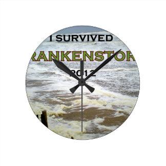 I SURVIVED FRANKENSTORM 2012 ROUND CLOCK