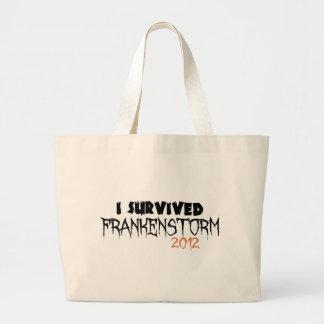 I Survived Frankenstorm 2012 Large Tote Bag
