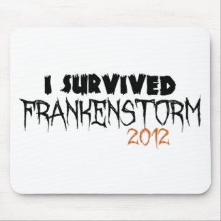 I Survived Frankenstorm 2012 Mousepads