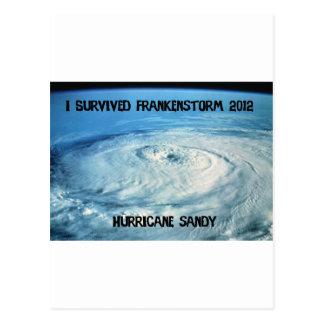 I Survived Frankenstorm 2012! Postcard