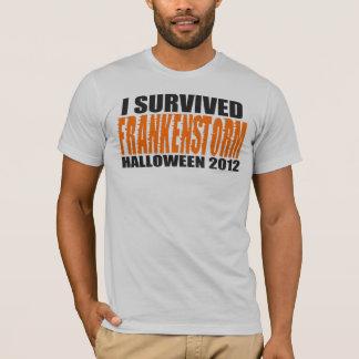 I Survived FRANKENSTORM Halloween 2012 t-shirt