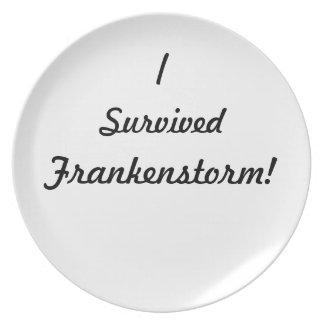 I survived Frankenstorm! Party Plates
