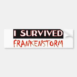 I SURVIVED FRANKENSTORM The storm of 2012 Bumper Sticker