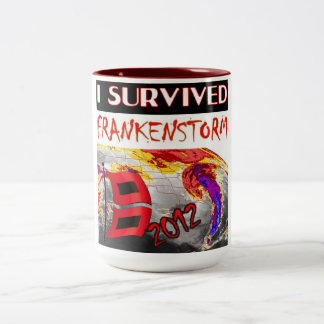 I SURVIVED FRANKENSTORM The storm of 2012 Two-Tone Coffee Mug