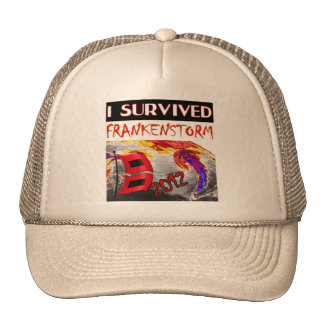 I SURVIVED FRANKENSTORM The storm of 2012 Trucker Hat