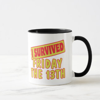 I SURVIVED FRIDAY THE 13TH MUG