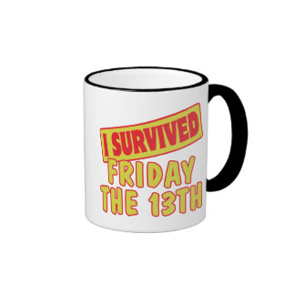 I SURVIVED FRIDAY THE 13TH MUGS