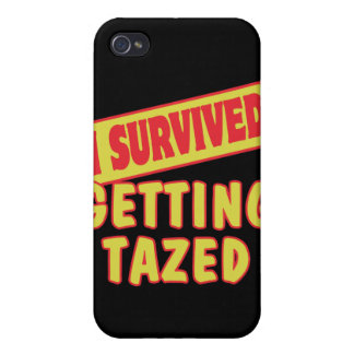 I SURVIVED GETTING TAZED iPhone 4 COVERS