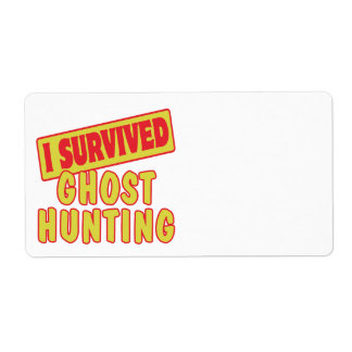 I SURVIVED GHOST HUNTING SHIPPING LABEL