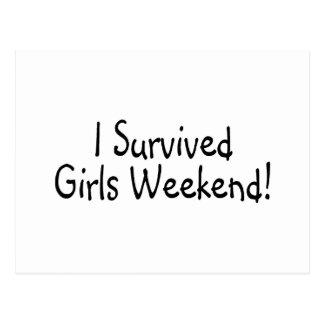 I Survived Girls Weekend Postcard