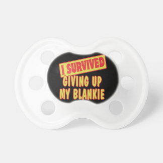 i survived giving up my blankie baby pacifier