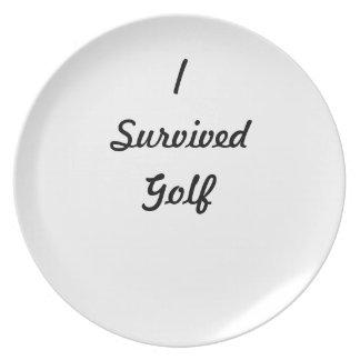 I survived Golf! Plate