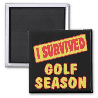 I SURVIVED GOLF SEASON MAGNET