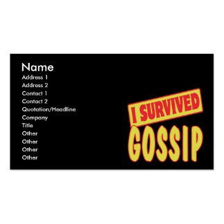 I SURVIVED GOSSIP BUSINESS CARD TEMPLATES
