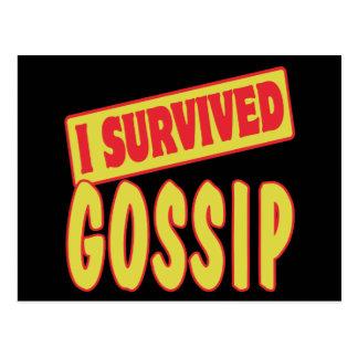I SURVIVED GOSSIP POSTCARD