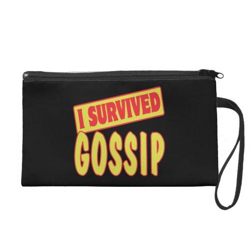 I SURVIVED GOSSIP WRISTLET PURSES
