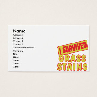 I SURVIVED GRASS STAINS BUSINESS CARD