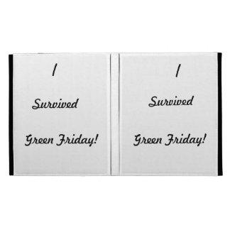 I survived Green Friday! iPad Case