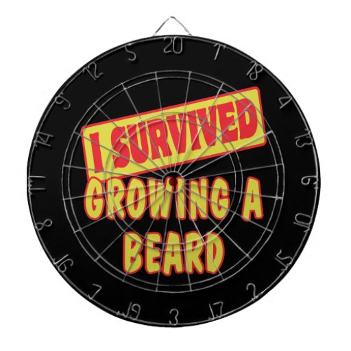 I SURVIVED GROWING A BEARD DARTBOARD WITH DARTS