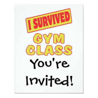 I SURVIVED GYM GLASS CARD