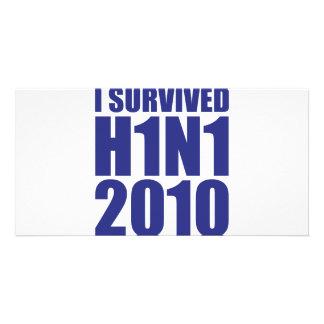 I SURVIVED H1N1 2010 in blue Card