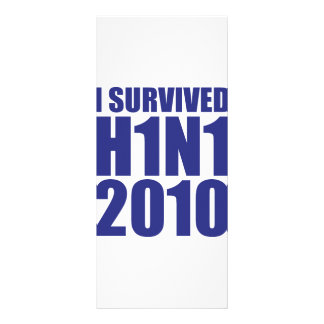 I SURVIVED H1N1 2010 in blue Rack Card Template