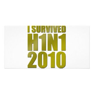 I SURVIVED H1N1 2010 in gold Card