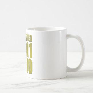 I SURVIVED H1N1 2010 in gold Coffee Mug